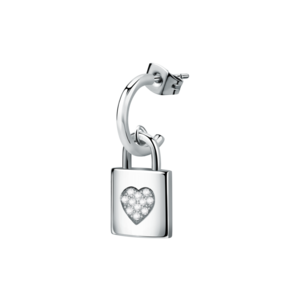 CLICKER  EAR.PADLOCK SS+HEART CRYS