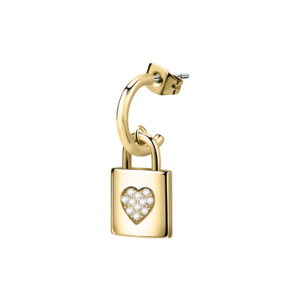 CLICKER EAR.PADLOCK YG+HEART CRYS
