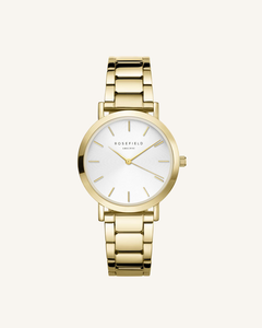 The Tribeca White Sunray Steel Gold