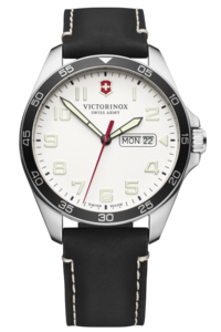 FIELDFORCE WHITE DIAL, BLACK LEATHER